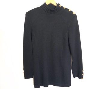 St John cardigan long sleeve with gold buttons